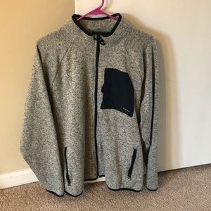 Old Navy Gray Men's Zip Up Sweater XLarge